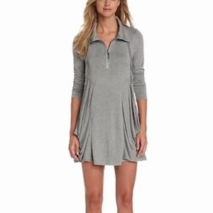 Kensie Long Sleeve Draped Pocket Mini Dress Small